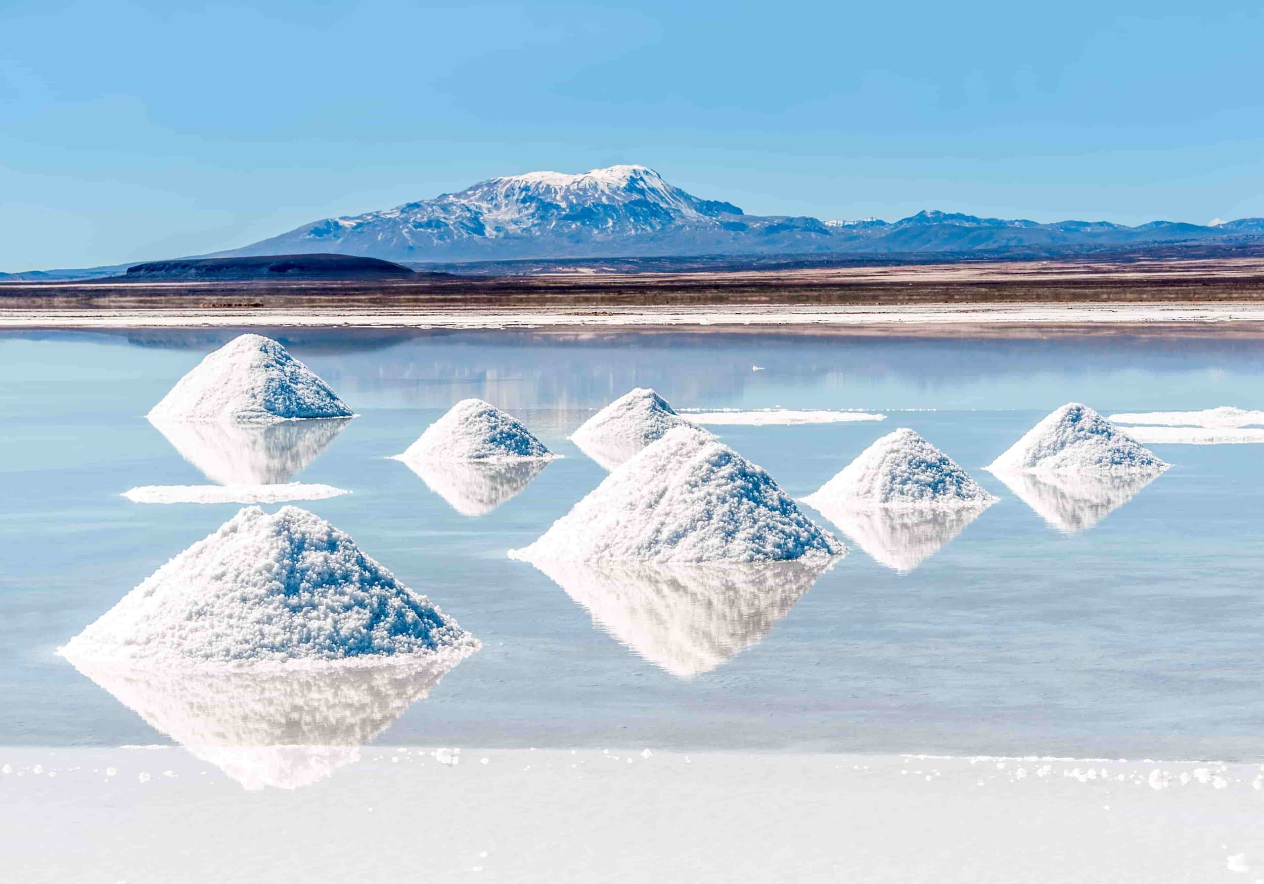 Lithium deposits being harvested from the lake