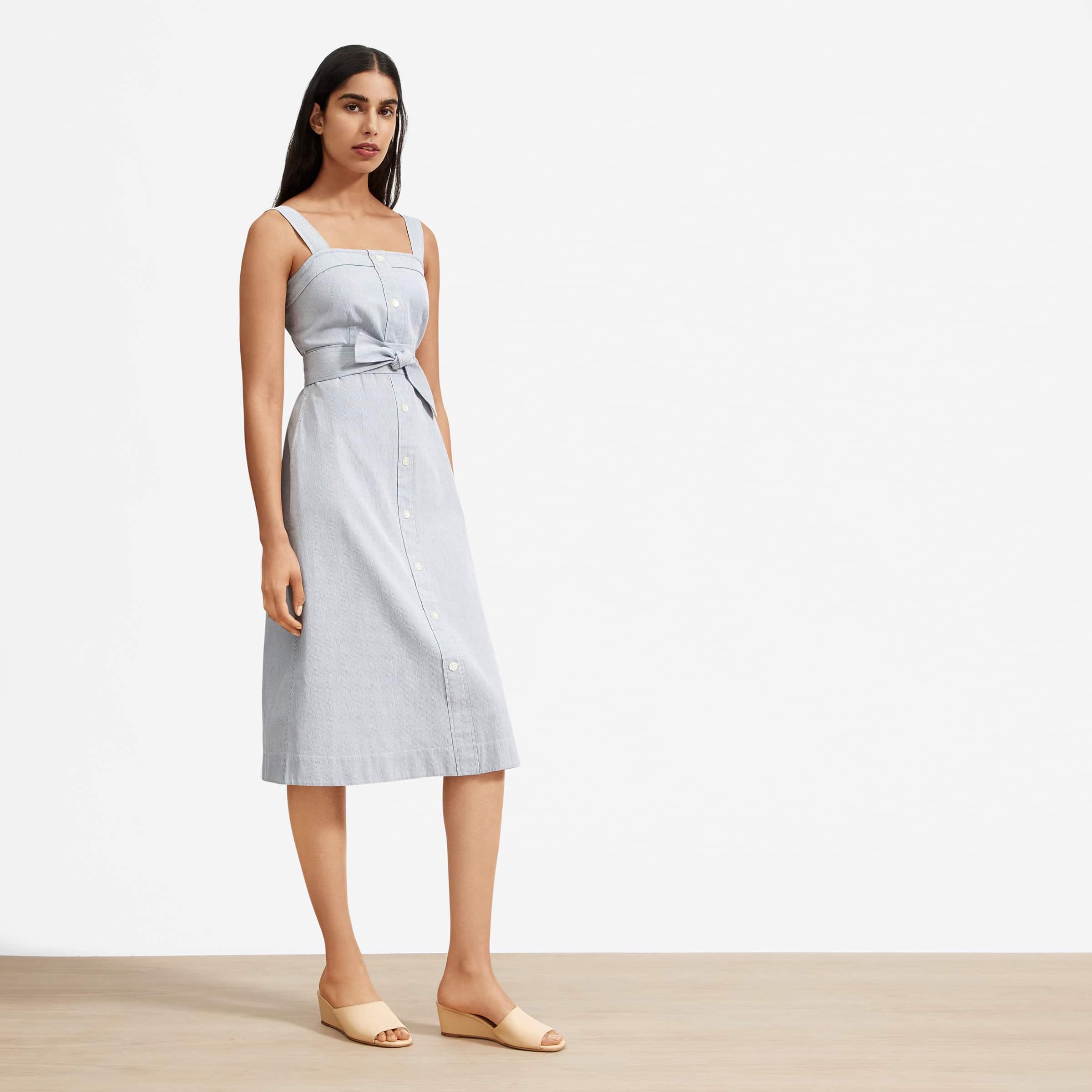 everlane, sustainable fashion, summer dresses
