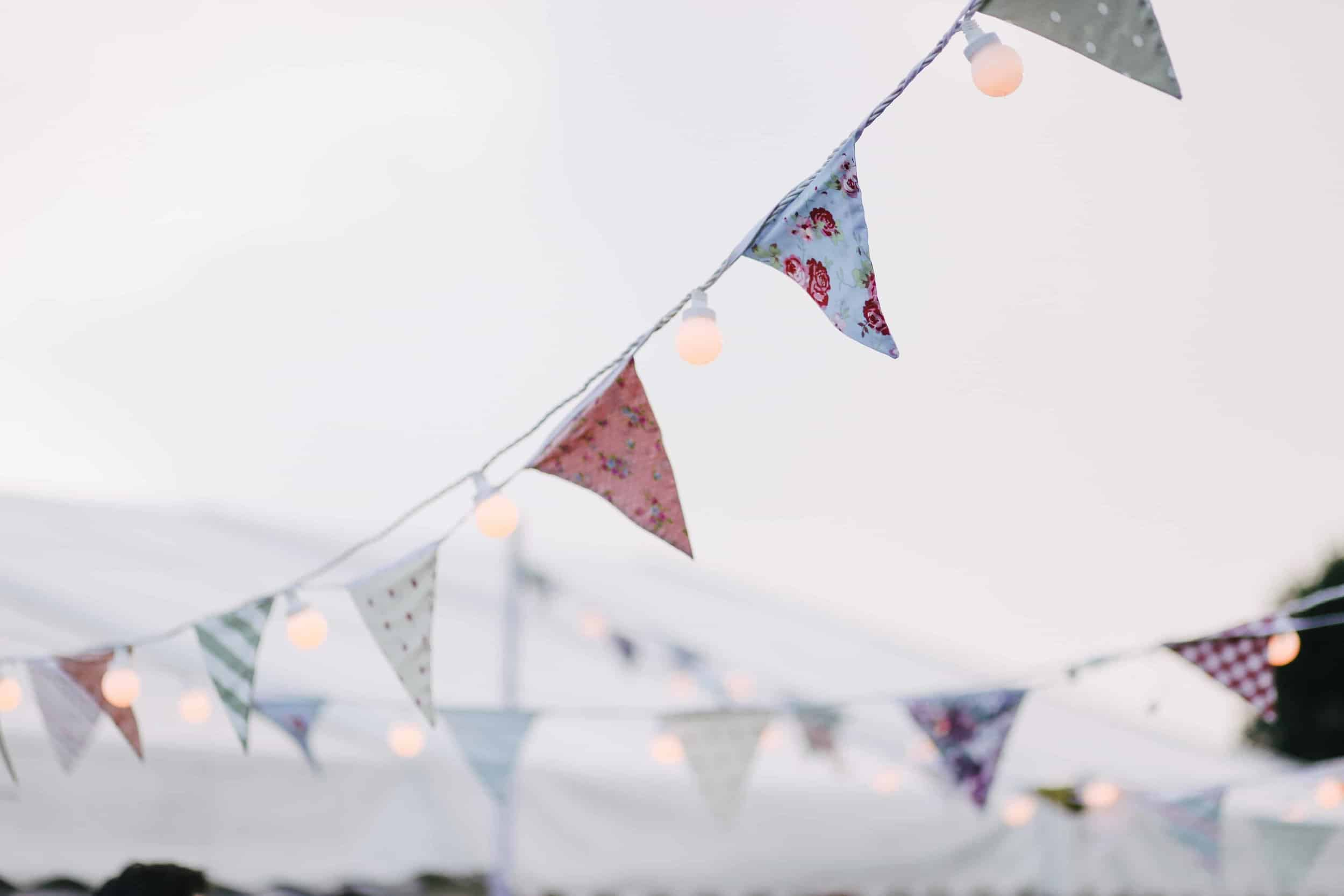 Cloth bunting for sustainable parties