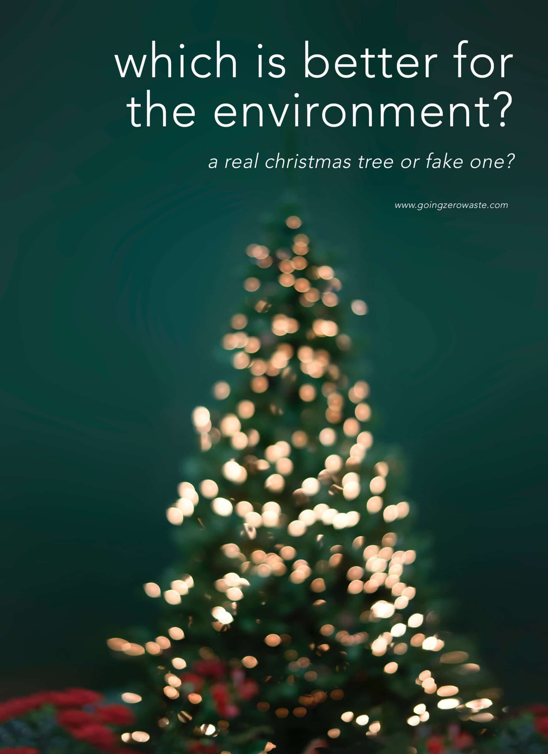 Is A Real Or Fake Christmas Tree Better For The Environment?