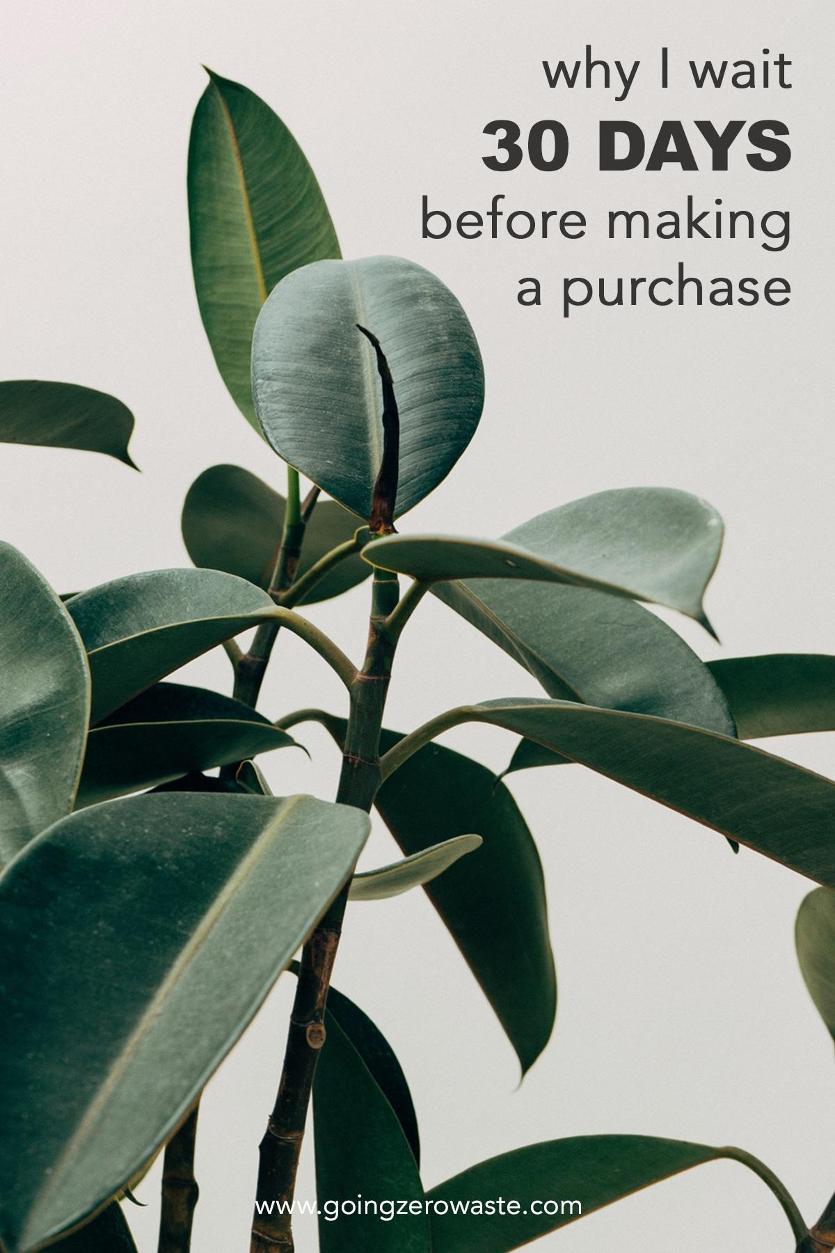 Why I Wait 30 Days Before I Make a Purchase