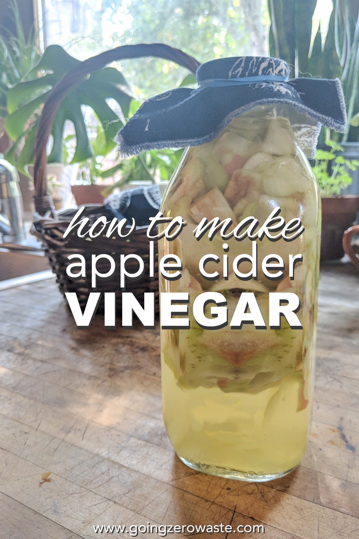 How to Make Apple Cider Vinegar from Scraps