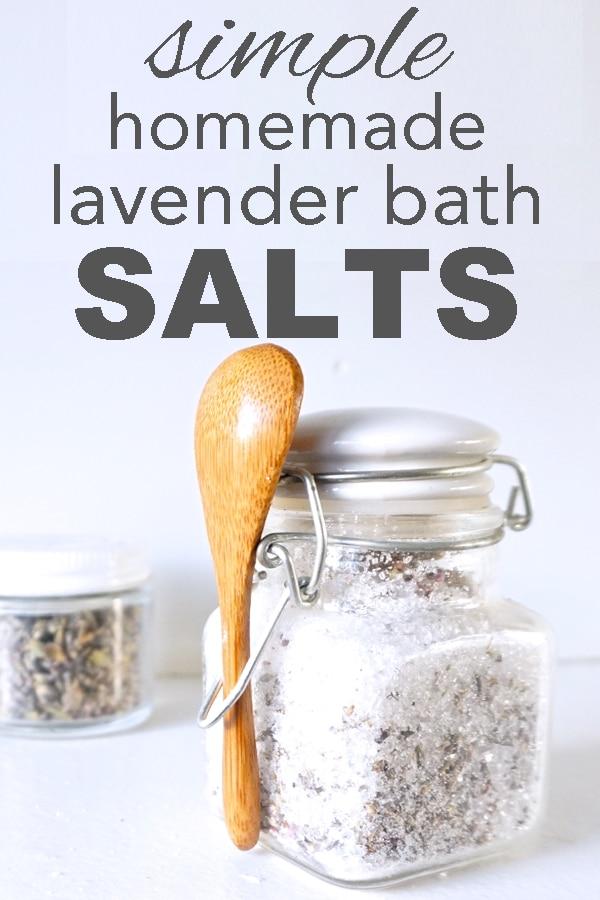 simple, homemade lavender bath salts