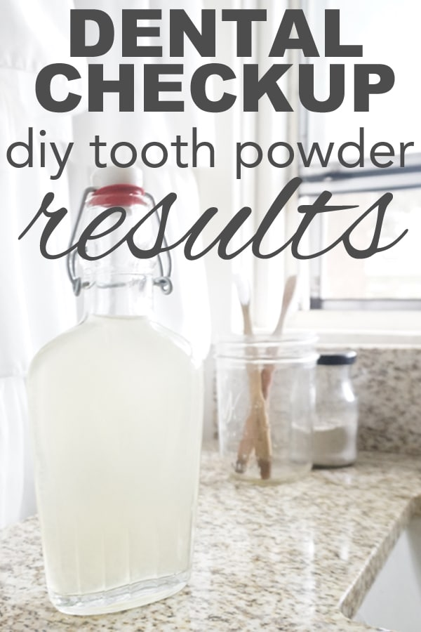 Dental Checkup: DIY Toothpowder Results