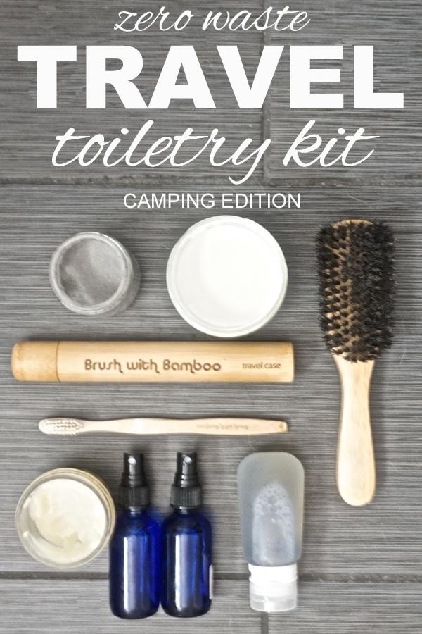 Zero Waste Travel: Toiletry Kit Camping Edition