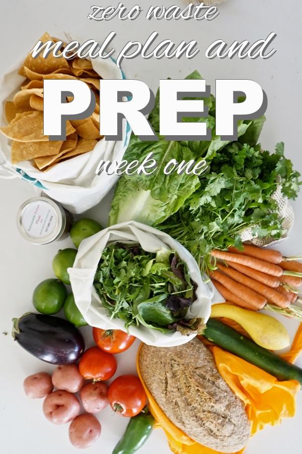 zero waste, plant based meal prep