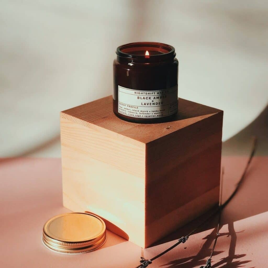 nightshift wax co eco-friendly, zero waste, non-toxic candles in pretty jars