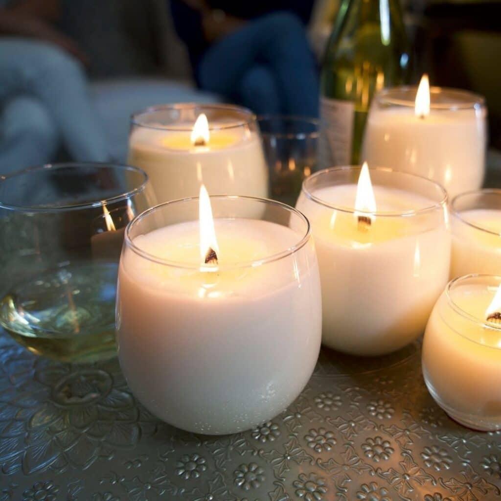 sanari candle co eco-friendly, zero waste, non-toxic candles in pretty jars