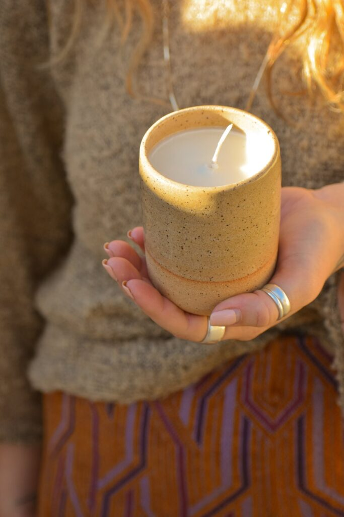 ebb and flow candles eco-friendly, zero waste, non-toxic candles in pretty jars