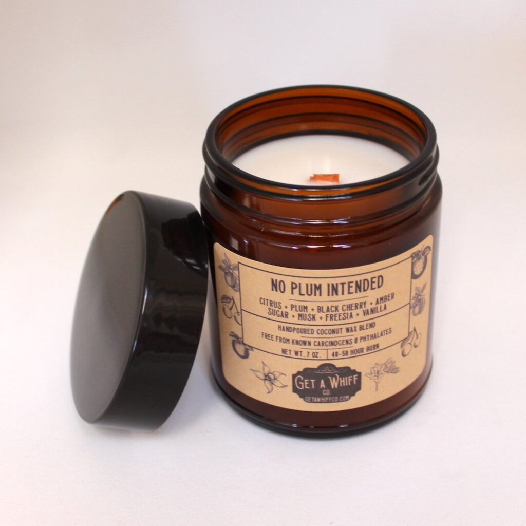 get a whiff co candles eco-friendly, zero waste, non-toxic candles in pretty jars
