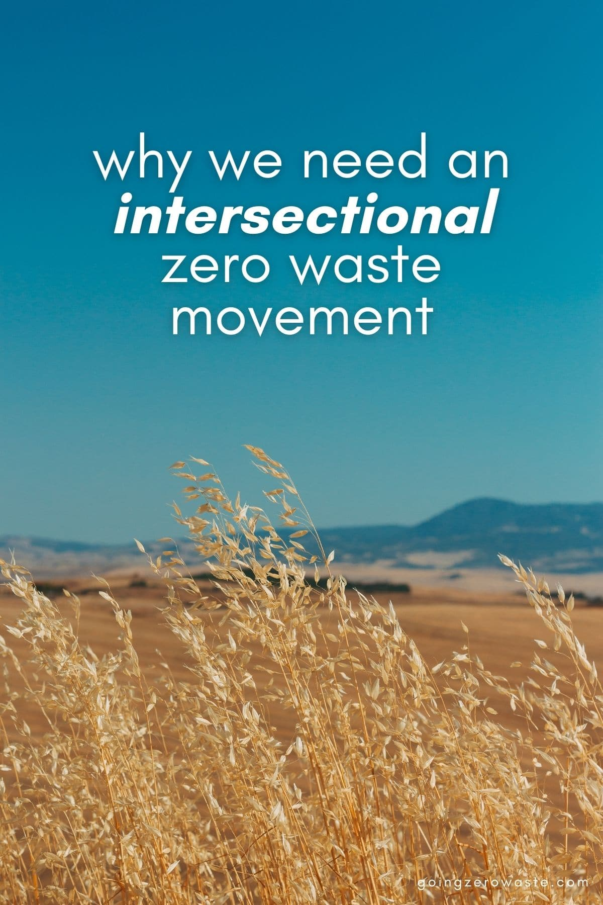 Why we need an intersectional zero waste movement from www.goingzerowaste.comWhy we need an intersectional zero waste movement from www.goingzerowaste.com