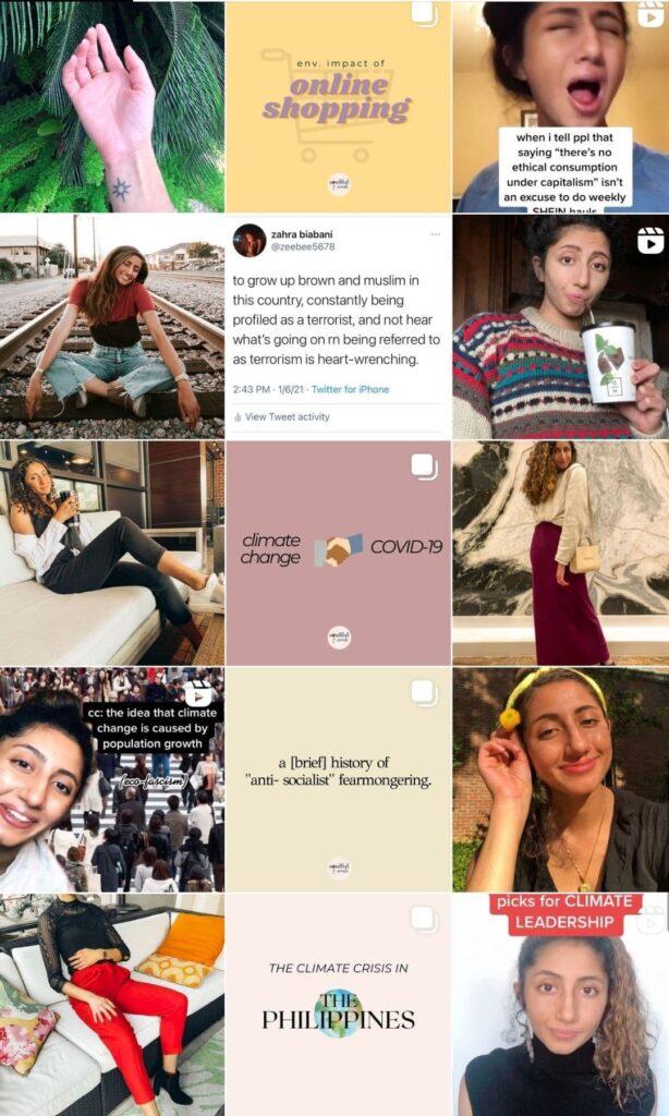 Zahara Biabani / Eco friendly living: 15 people who will motivate you and inspire you! from www.goingzerowaste.com #zerowaste #ecofriendly #instagram #influencers #sustainableliving